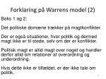 forklaring p warrens model 2