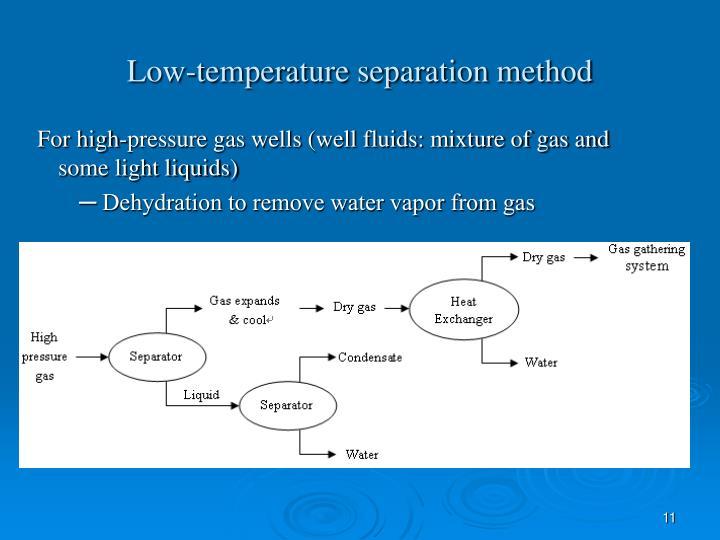 Low-temperature separation method