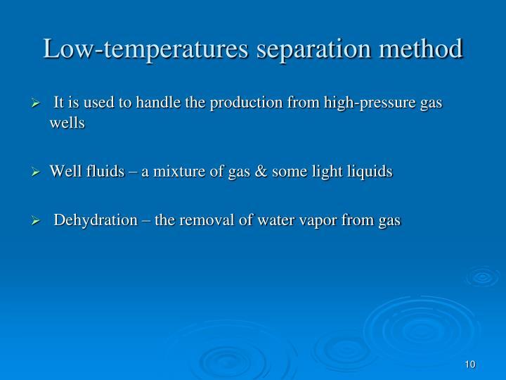 Low-temperatures separation method