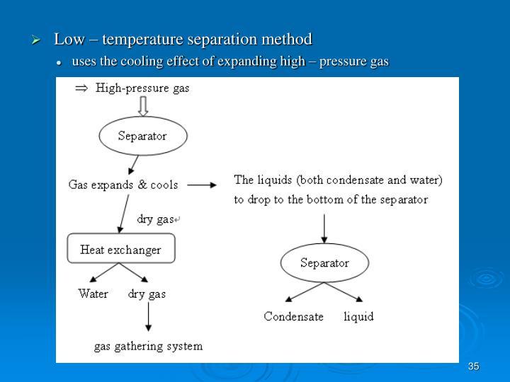 Low – temperature separation method