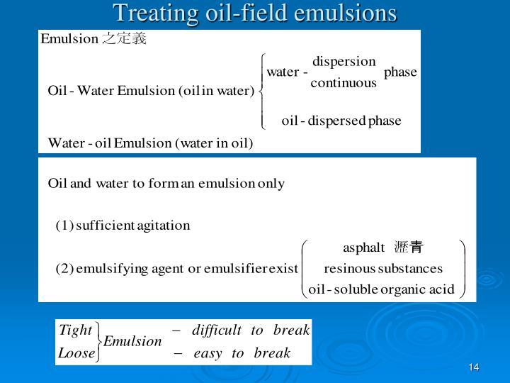 Treating oil-field emulsions