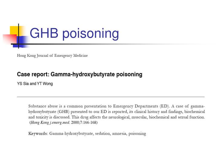 GHB poisoning