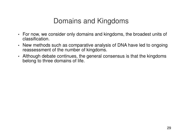 Domains and Kingdoms