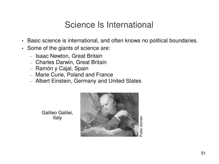 Science Is International