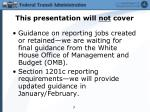 this presentation will not cover