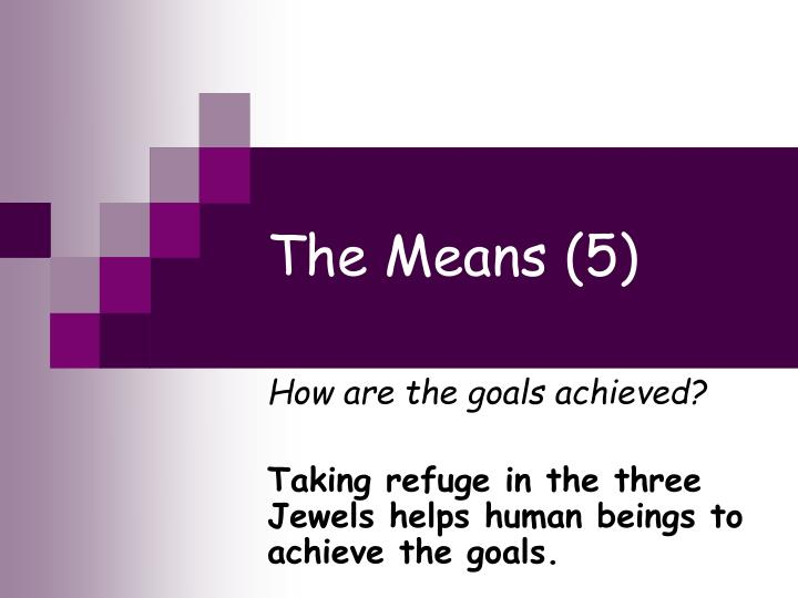 the means 5 n.