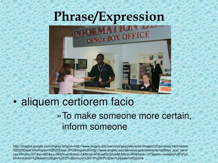 Phrase/Expression