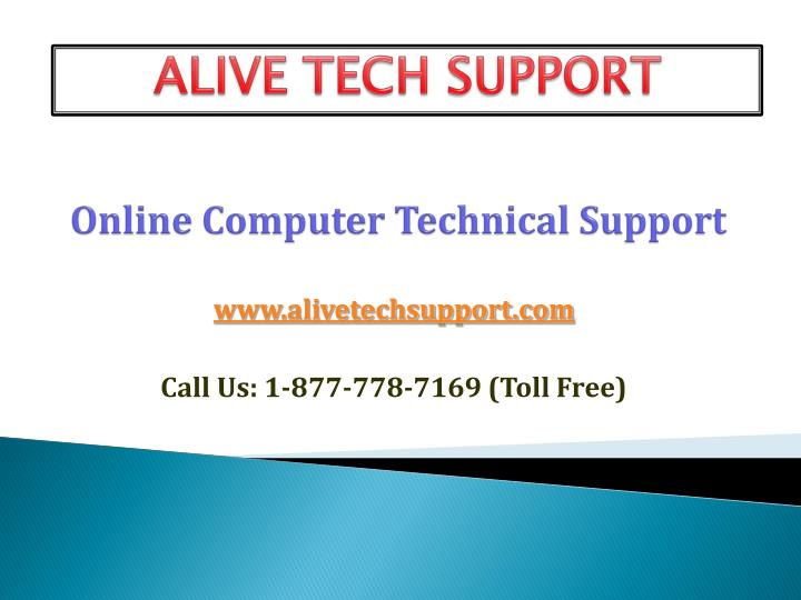 online computer technical support n.