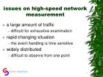 issues on high speed network measurement