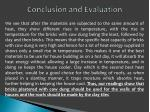 conclusion and evaluation2