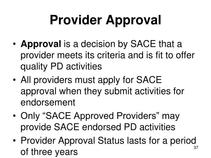 Provider Approval