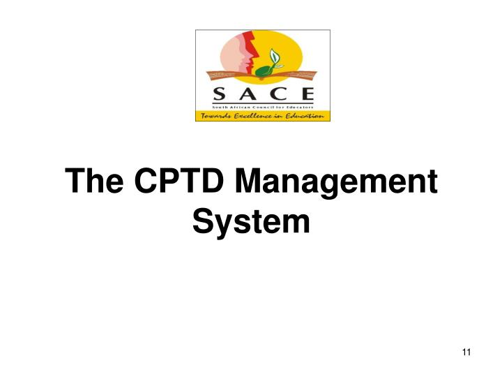 The CPTD Management System