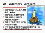 vq voluntary quotient