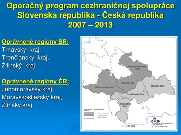 Operačný program cezhraničnej spolupráce