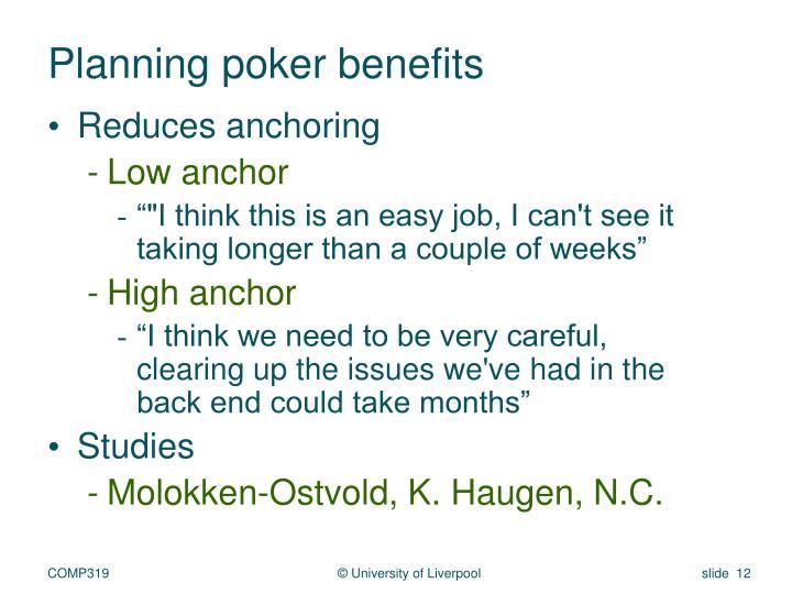 Planning poker benefits