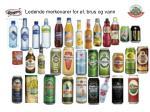 ledende merkevarer for l brus og vann