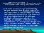 liuda juc nait avi onien eimos steigto fondo lithuanian freedom through education vadov
