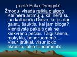 poet erika drungyt