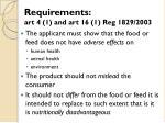 requirements art 4 1 and art 16 1 reg 1829 2003