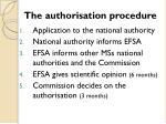 the authorisation procedure