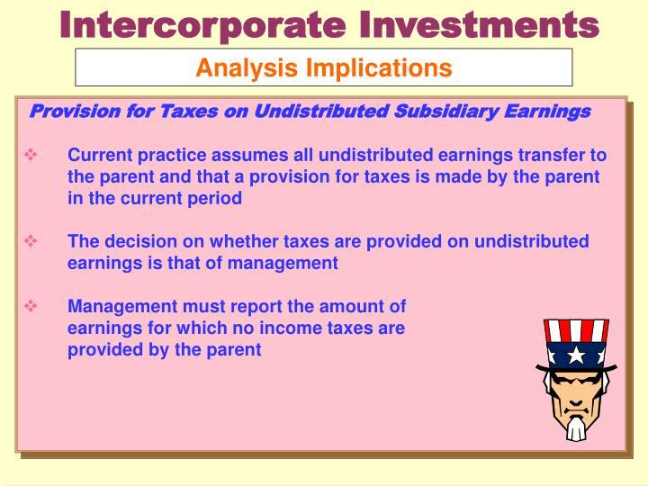 Intercorporate Investments