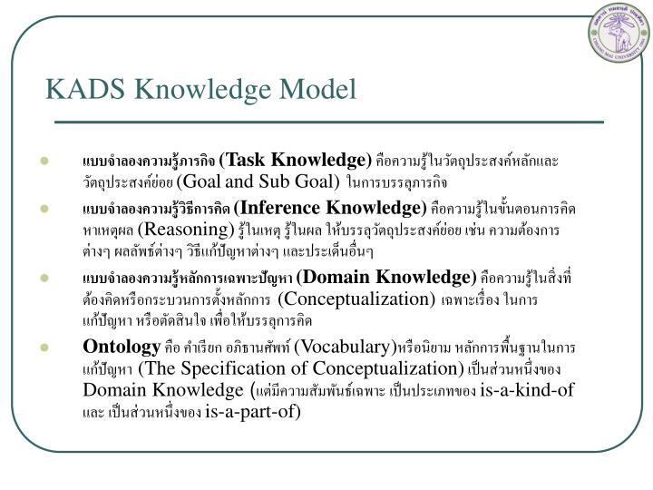 KADS Knowledge Model