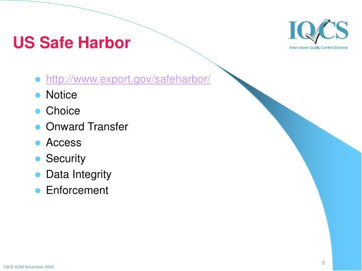 US Safe Harbor