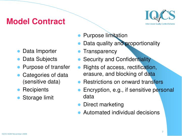 Model Contract