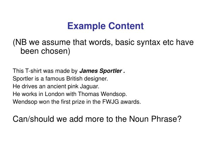 Example Content