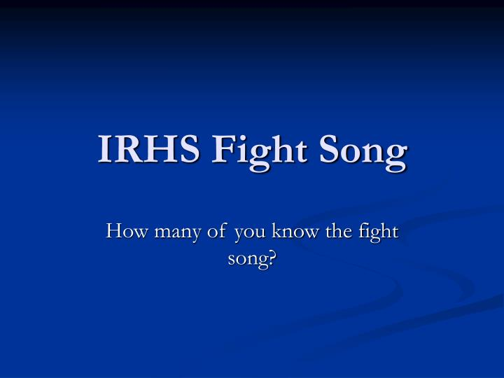irhs fight song n.