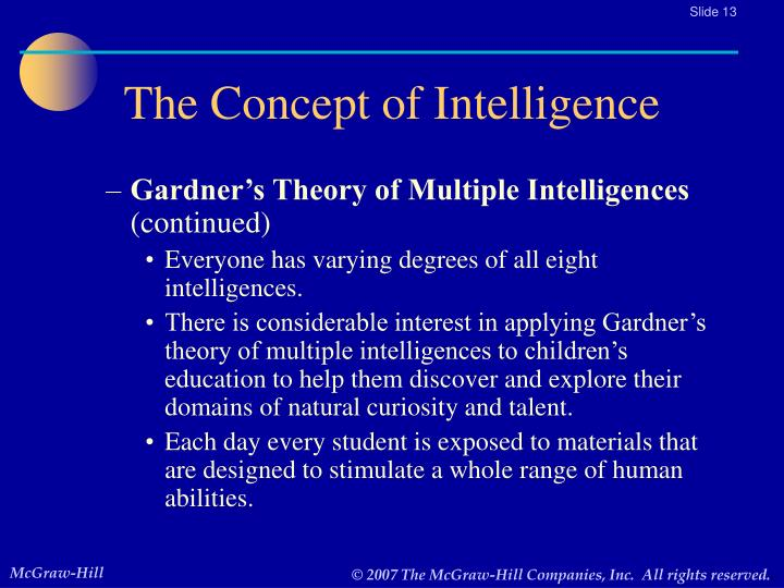 application of gardners theory of multiple Applications the questions come from professors, teachers, parents, the usual sense 1983, in my book frames of mind: the theory of multiple intelligences.