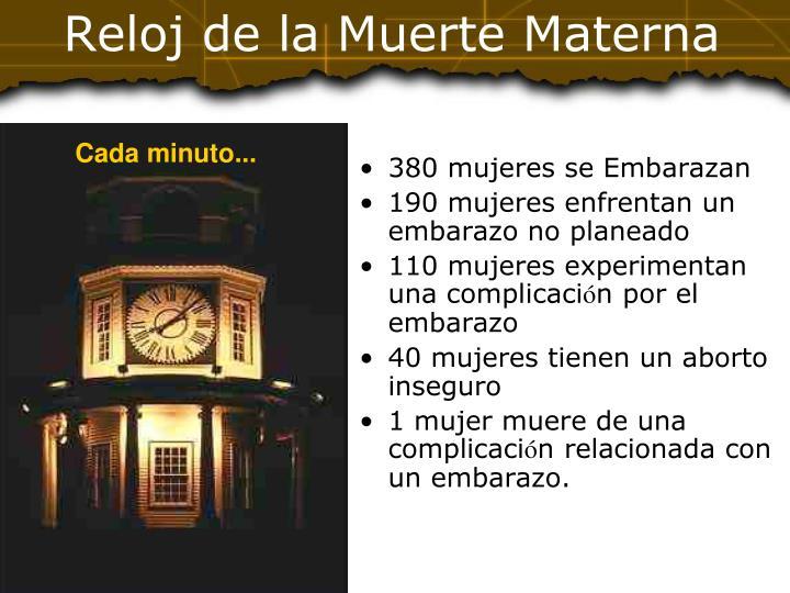 Reloj de la muerte materna
