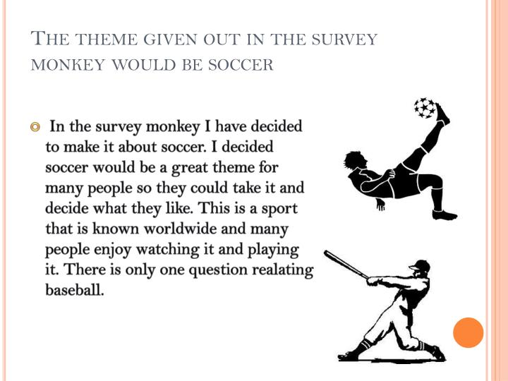 The theme given out in the survey monkey would be soccer