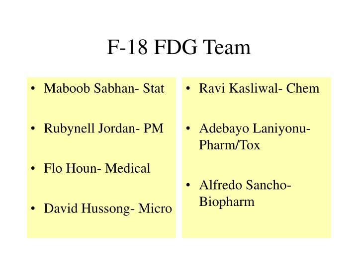 F 18 fdg team