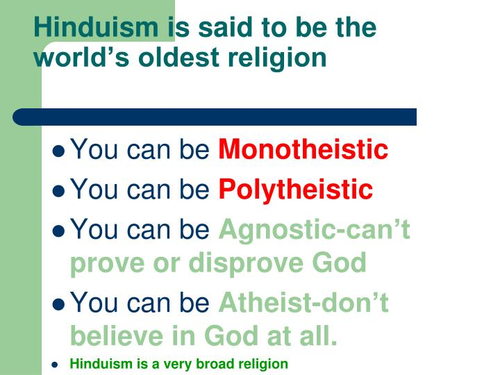 oldest religion in the world