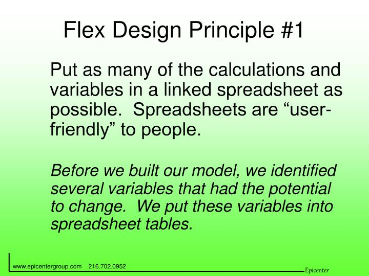 Flex Design Principle #1