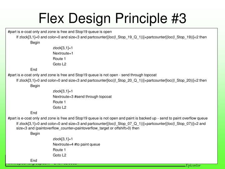 Flex Design Principle #3