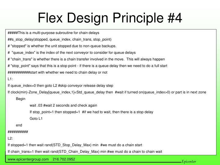 Flex Design Principle #4