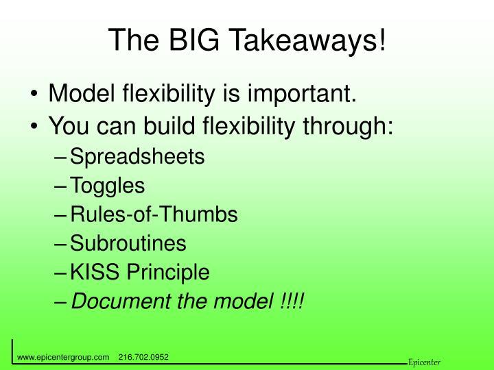 The BIG Takeaways!