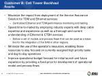 customer b cell tower backhaul results