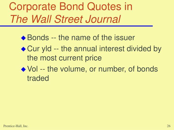 Corporate Bond Quotes in