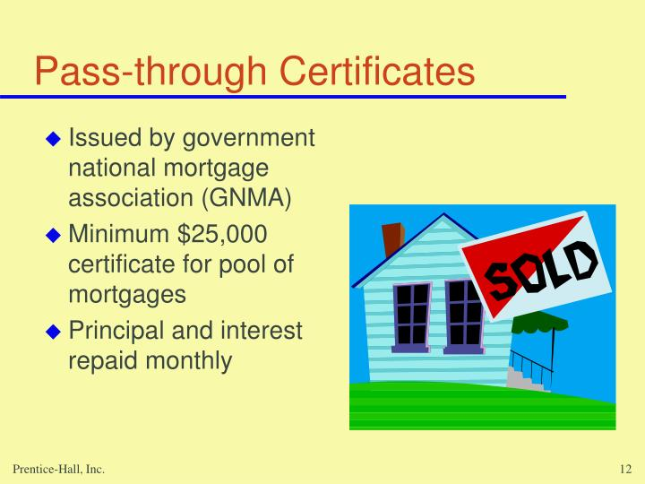 Pass-through Certificates