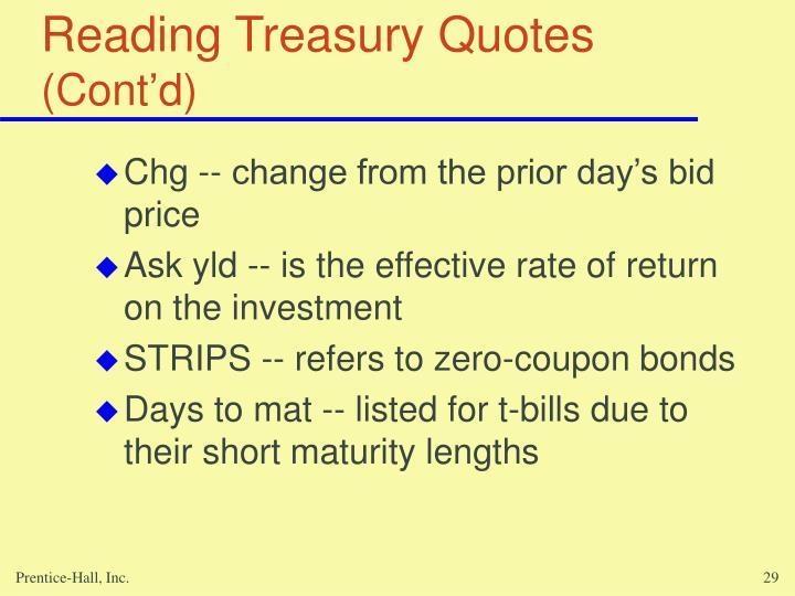 Reading Treasury Quotes