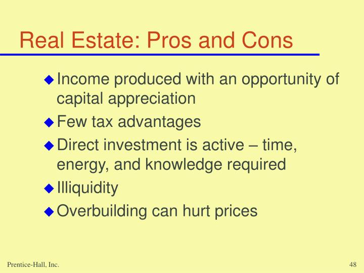 Real Estate: Pros and Cons
