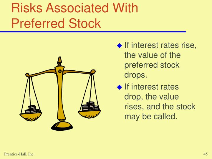Risks Associated With Preferred Stock