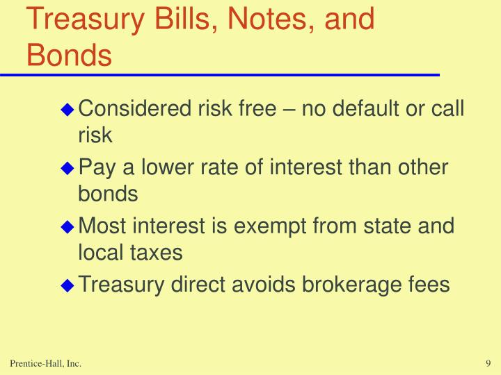 Treasury Bills, Notes, and Bonds