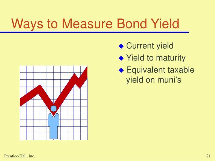 Ways to Measure Bond Yield