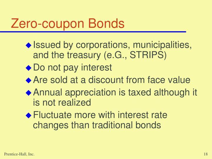 Zero-coupon Bonds