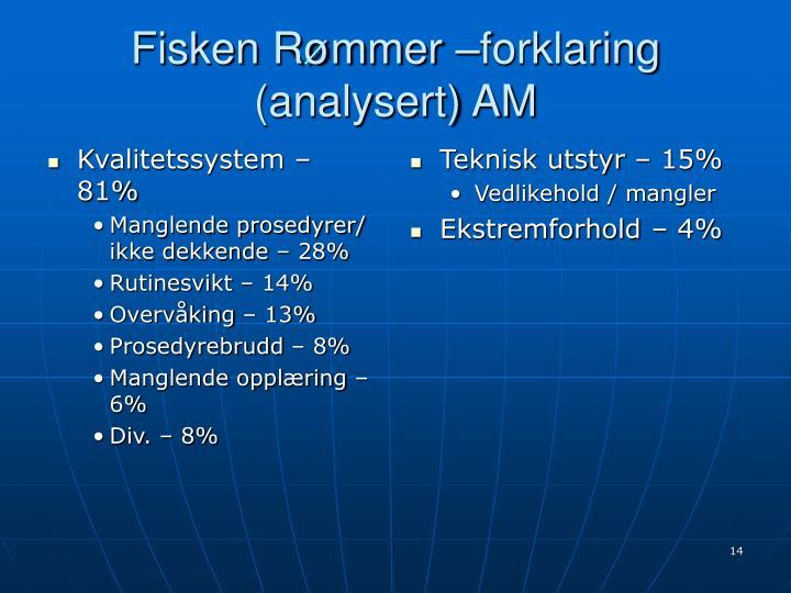 Kvalitetssystem – 81%
