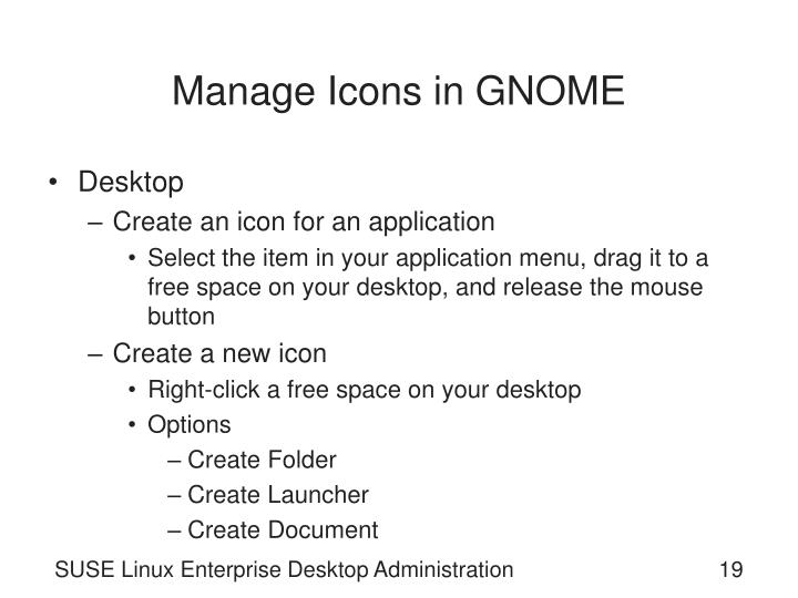 Manage Icons in GNOME